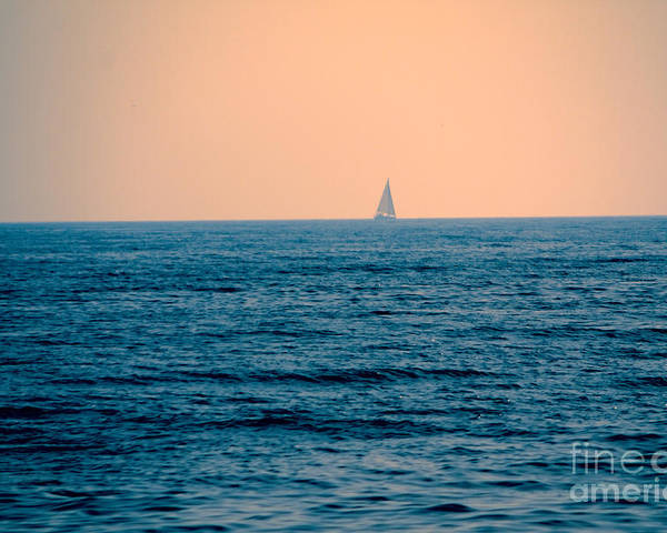 Sailboat Poster featuring the photograph Sail Away by Loretta Jean Photography