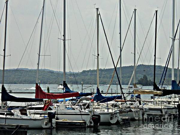 Sail Boats Poster featuring the photograph Sailboats by Pics by Jody Adams