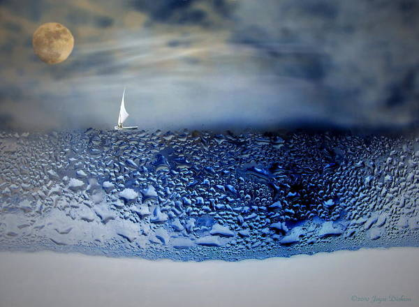 Ocean Poster featuring the photograph Sailing The Liquid Blue by Joyce Dickens