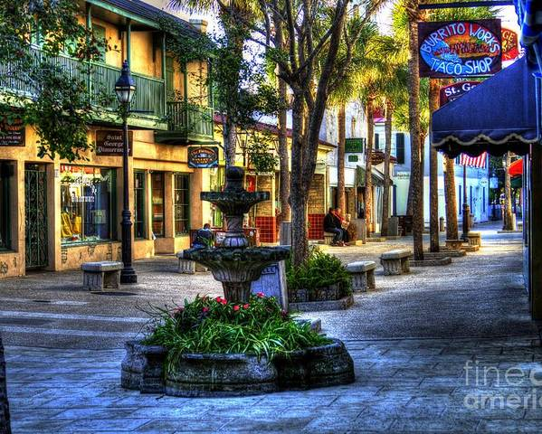 Saint Augustine Fl  Poster featuring the photograph Saint Augustine Fl  055 by C W Hooper