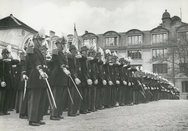 retro Images Archive Poster featuring the photograph Saint Cyr Cadets At Ecole Polmtechnique by Retro Images Archive