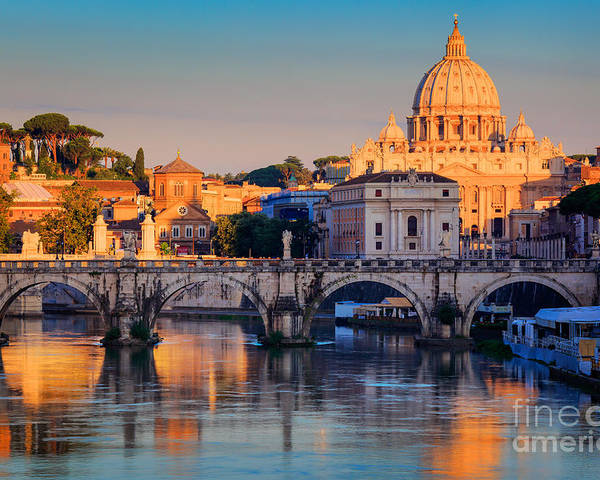 Christianity Poster featuring the photograph Saint Peters Basilica by Inge Johnsson