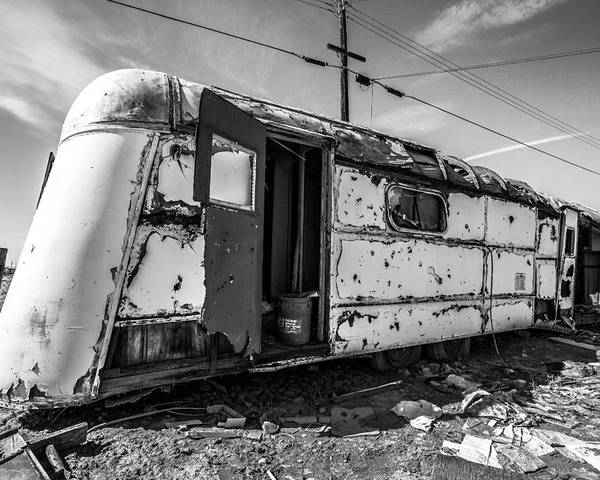 Trailer Poster featuring the photograph Salton Sea Trailer by Robert Aycock