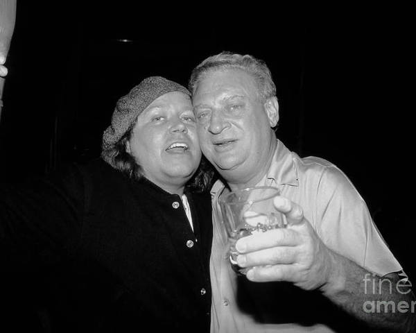 Sam Kinison Poster featuring the photograph Sam And Rodney by David Plastik