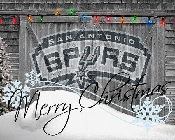 Spurs Poster featuring the photograph San Antonio Spurs by Joe Hamilton