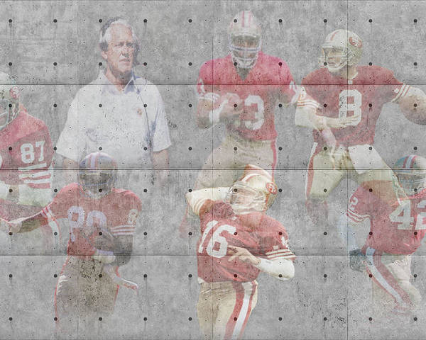 49ers Poster featuring the photograph San Francisco 49ers Legends by Joe Hamilton