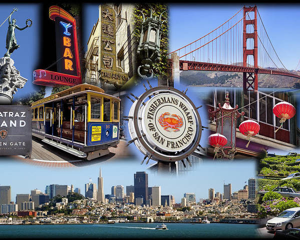 San Francisco Poster featuring the photograph San Francisco Collage by Kelley King