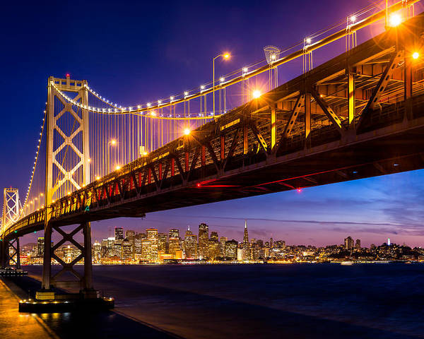 San Francisco Poster featuring the photograph San Francisco - Under The Bay Bridge by Alexis Birkill