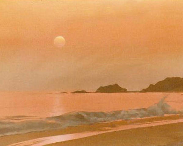 Sunset Poster featuring the painting San Fransisco sunset by Philip Fleischer