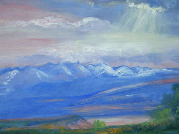 Colorado Poster featuring the painting San Juan Mountains Colorado by Patricia Kimsey Bollinger