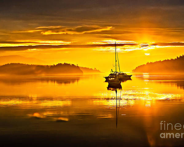 San Juan Island Poster featuring the photograph San Juan Sunrise by Robert Bales