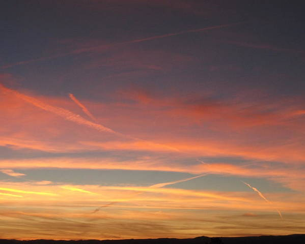 Sky Poster featuring the photograph San Luis Sunset by Debbie Westermeyer