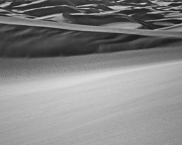 Great Poster featuring the photograph Sand Dunes Abstract by Aaron Spong