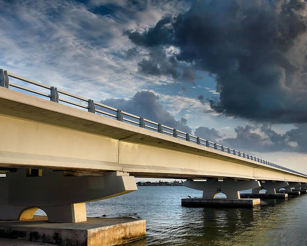Road Poster featuring the photograph Sanibel Causeway I by Steven Ainsworth