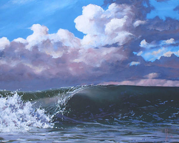 Wave Poster featuring the painting Santa Barbara by Philip Fleischer