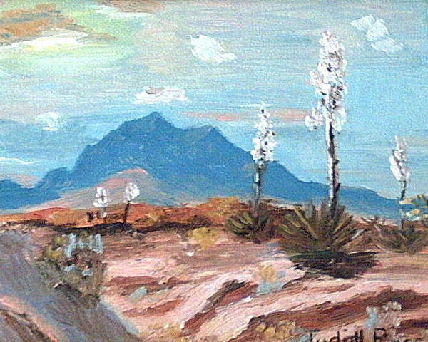 Poster featuring the mixed media Santa Rita Mts. Near Tucson Arizona by Judi Pence