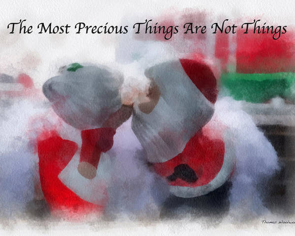 Christmas Poster featuring the photograph Santa The Most Precious Photo Art by Thomas Woolworth