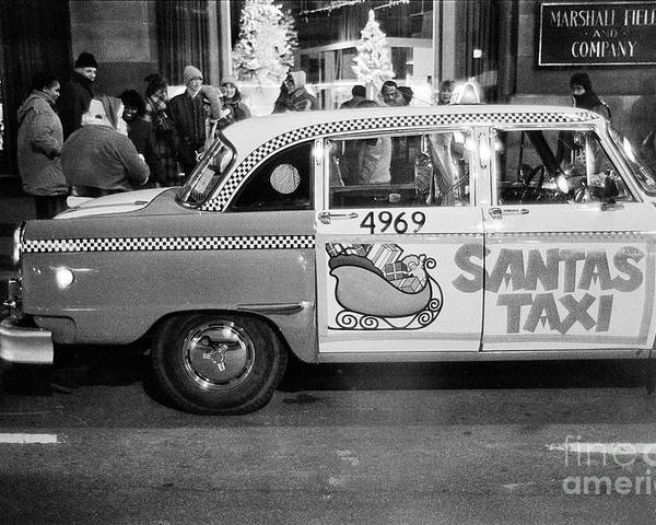 Santa Poster featuring the photograph Santa's Taxi by William Stetz