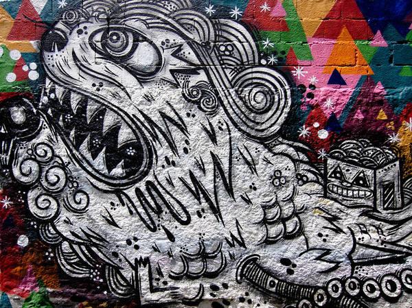 Graffiti Poster featuring the photograph Sao Paulo Graffiti Vii by Julie Niemela