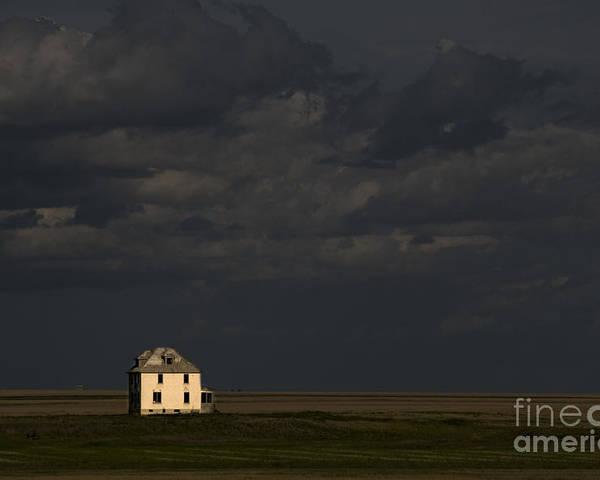 Saskatchewan Prairie Poster featuring the photograph Saskatchewan Farmland by Mark Newman