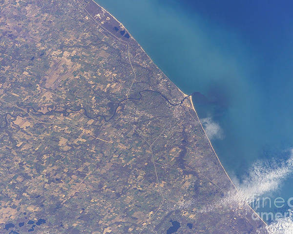 Michigan Poster featuring the photograph Satellite View Of St. Joseph Area by Stocktrek Images