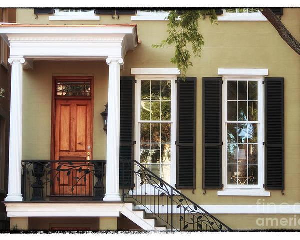 Savannah House Poster featuring the photograph Savannah House by John Rizzuto