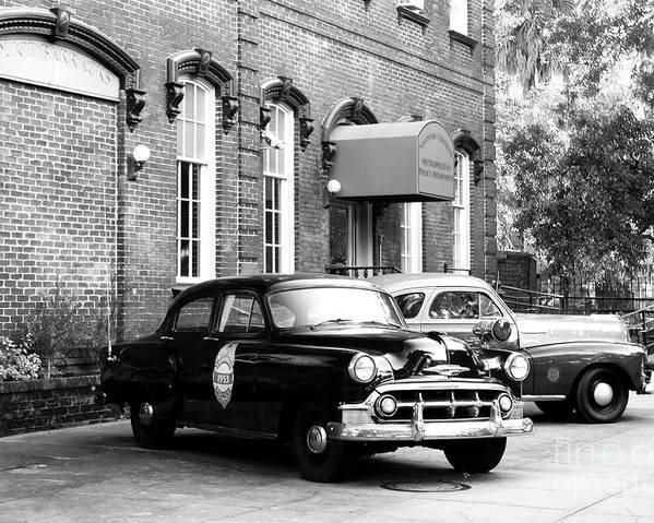 Savannah Poster featuring the photograph Savannah Police Station by John Rizzuto
