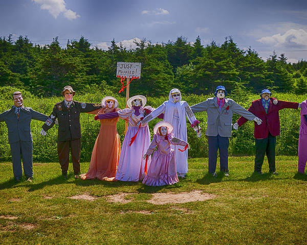 Scarecrow Poster featuring the photograph Scarecrow Wedding by Garry Gay