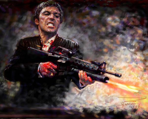 Scarface Poster By Viola El