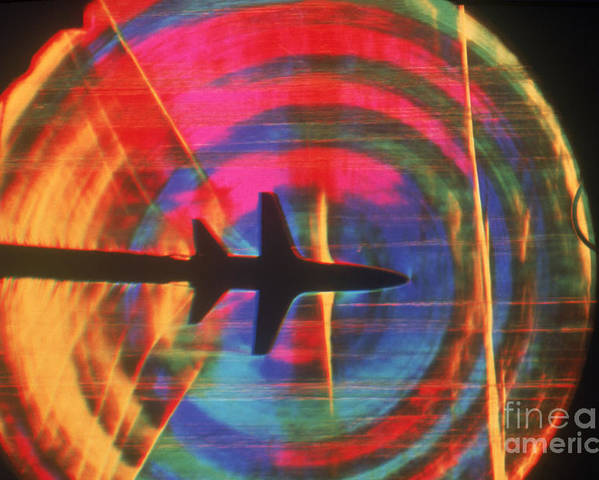 Shock Wave Poster featuring the photograph Schlieren Image Of Aircraft by Garry Settles