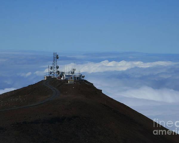 Aloha Poster featuring the photograph Science City Haleakala by Sharon Mau