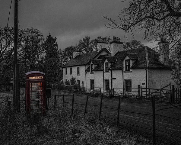 Phone Booth Poster featuring the photograph Scottish Inn by Jason Lanier