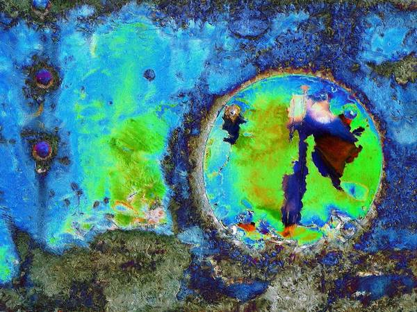 Abstract Poster featuring the mixed media Sea Breeze by Tom Druin