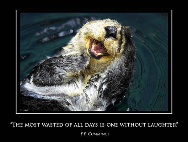 Sea Poster featuring the photograph Sea Otter Motivational by Fabrizio Troiani