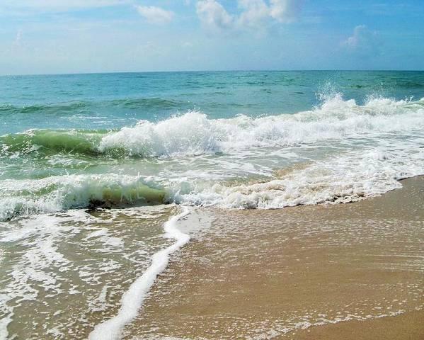 Sea Shore Poster featuring the photograph Seashore At Vero Beach by Nancy Hopkins