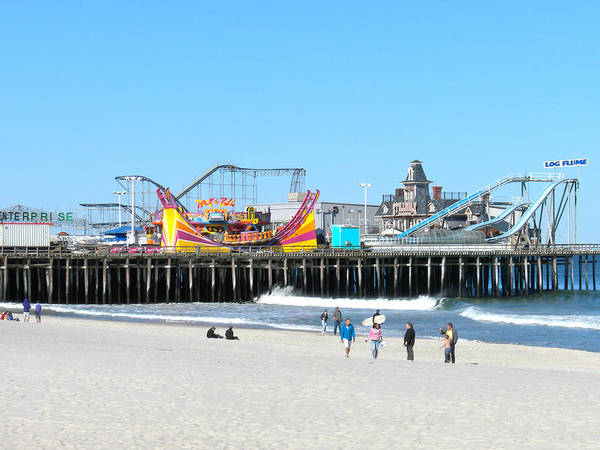 Ocean Poster featuring the photograph Seaside Casino Pier by Neal Appel