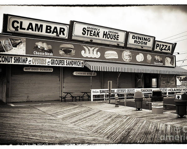 Seaside Clam Bar Poster featuring the photograph Seaside Clam Bar by John Rizzuto