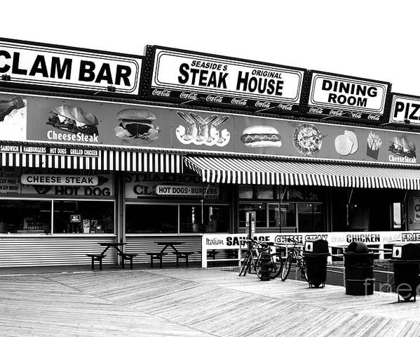Seaside Dining Poster featuring the photograph Seaside Dining by John Rizzuto