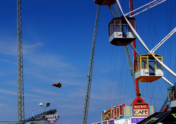 Nj Shore Photographs Poster featuring the photograph Seaside Heights Nj Before Sandy by Allen Beilschmidt