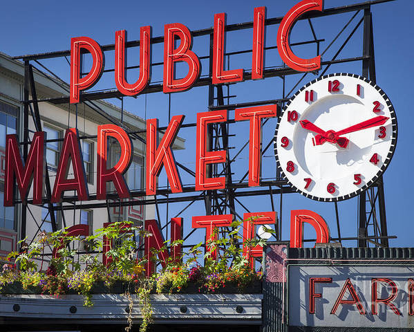 America Poster featuring the photograph Seattle Market by Brian Jannsen