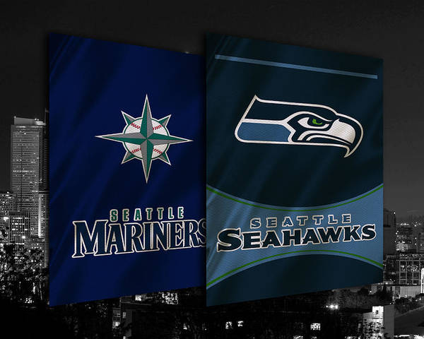 Seahawks Poster featuring the photograph Seattle Sports Teams by Joe Hamilton
