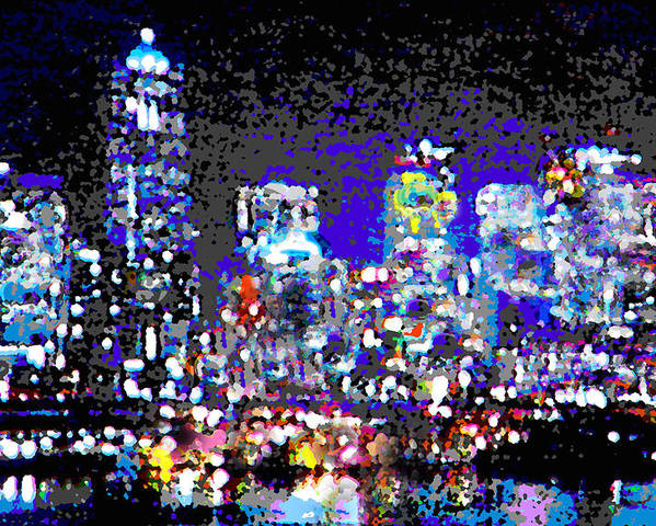 Seattle Poster featuring the digital art Seattle Waterfront by Michael Moore