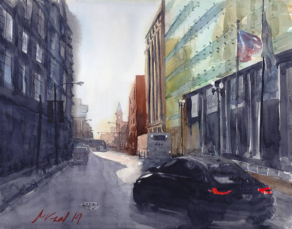 Chicago Poster featuring the painting Second City Hustle by Max Good