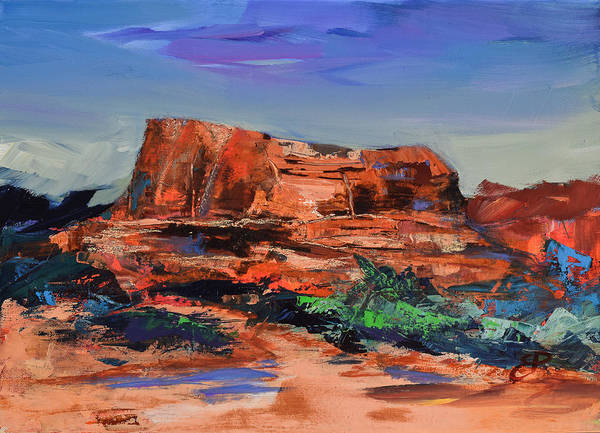 Arizona Poster featuring the painting Sedona's Heart by Elise Palmigiani