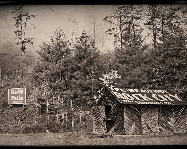 Barn Poster featuring the photograph See Rock City by Debra and Dave Vanderlaan