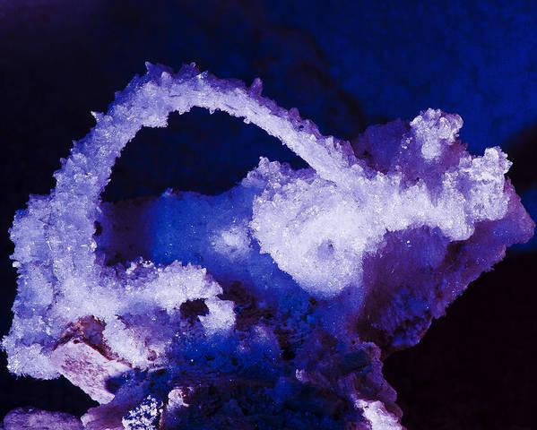 Grand Canyon Caverns Poster featuring the photograph Selenite Crystal by Kenan Sipilovic