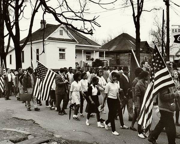 Civil Rights Poster featuring the photograph Selma To Montgomery by Benjamin Yeager