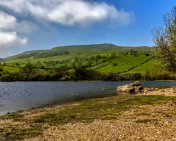 Lake Poster featuring the photograph Semerwater Yorks Dales by Trevor Kersley