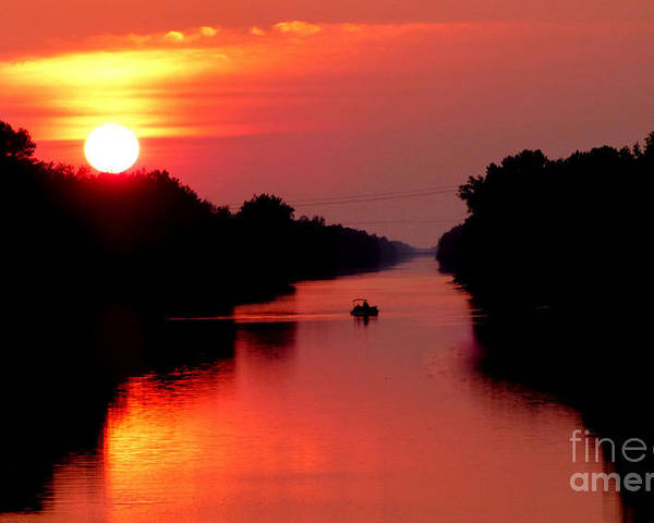 Landscape Poster featuring the photograph September Sunset by Rennae Christman