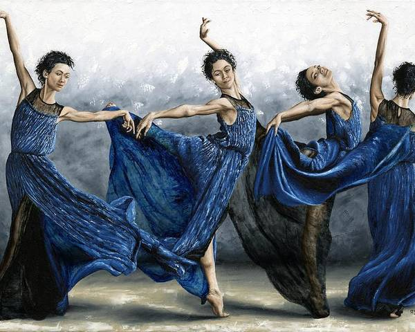 Dance Poster featuring the painting Sequential Dancer by Richard Young